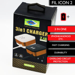 FIL Icon2 can charge two phones at the same to full capacity in a short period of time depending on the phones low battery status